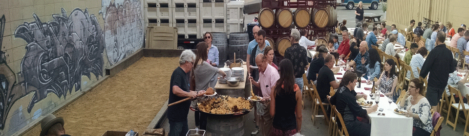 Wine Club Member Party with Paella